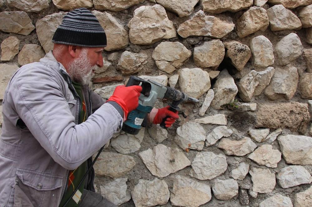 Amasya'da 2 bin 400 yıllık surlar restore ediliyor - 3