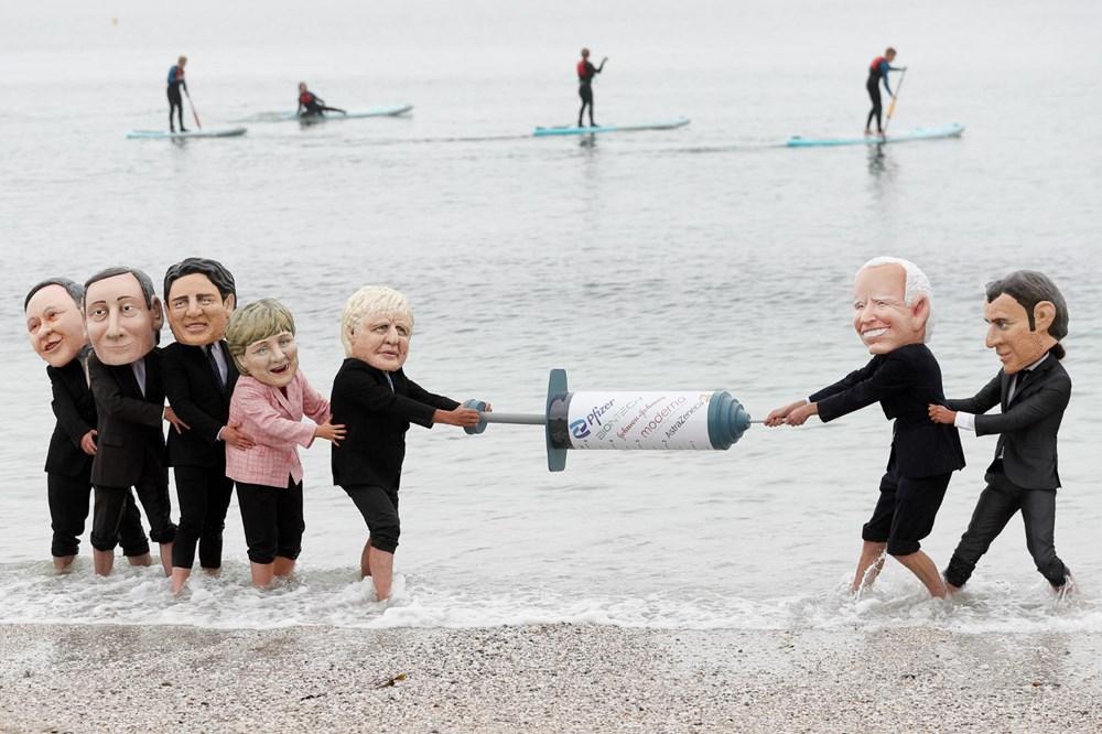 """G7 Zirvesi'nde """"küresel aşı eşitsizliği"""" protestosu - 5"""