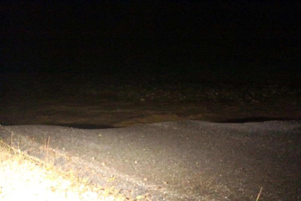 Düzce'de dere taştı, yol çöktü: Kentte sağanak etkili oldu - 4