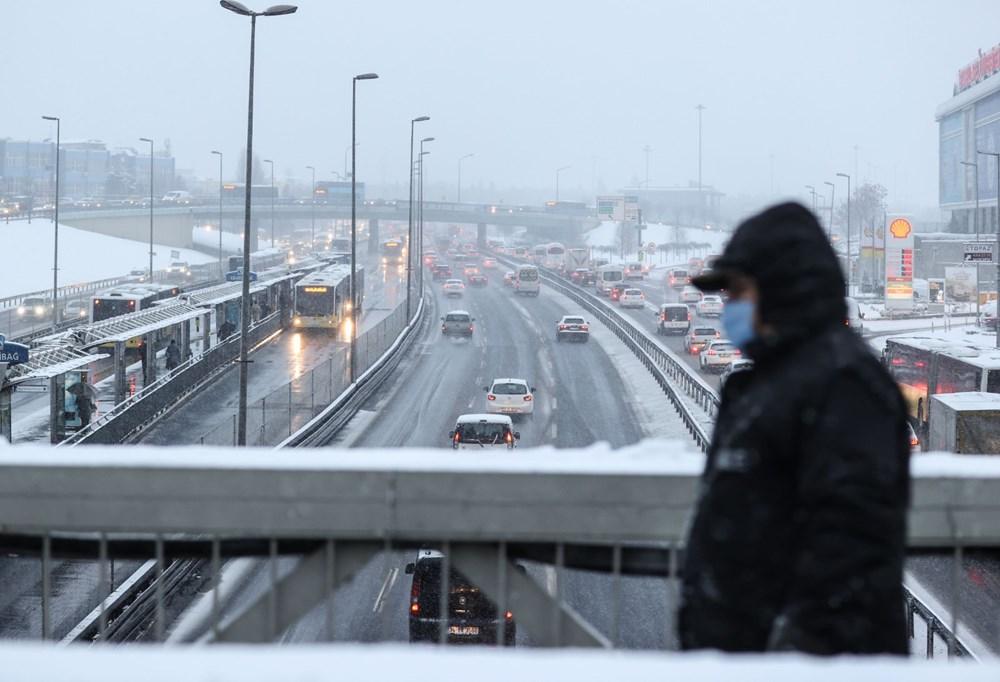 İstanbul'da kar yağışı yeniden etkisini artırdı - 20