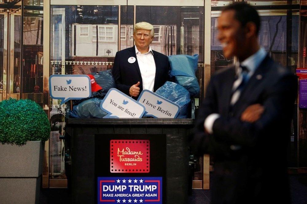 Madame Tussauds müzesinden seçimleri kaybeden Trump heykeline golf kostümü - 4