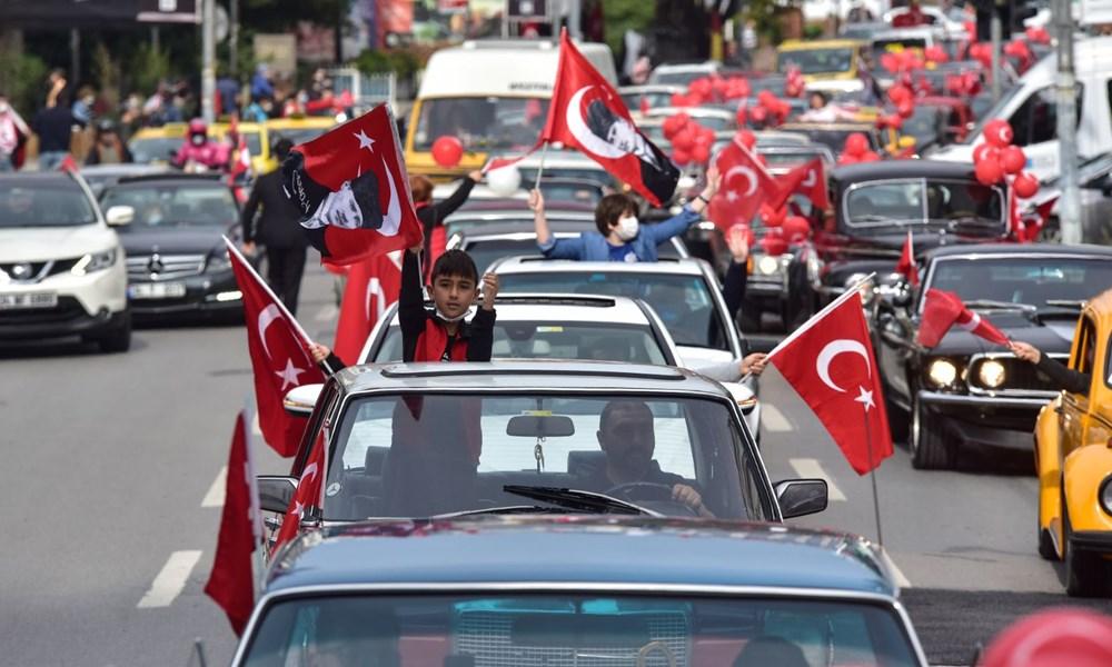 Kadıköy'de klasik otomobillerden Cumhuriyet Konvoyu - 6