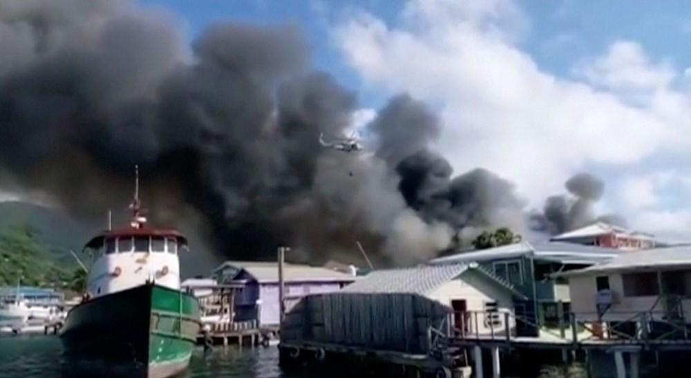 Honduras'ta yangın: En az 90 ev küle döndü - 2