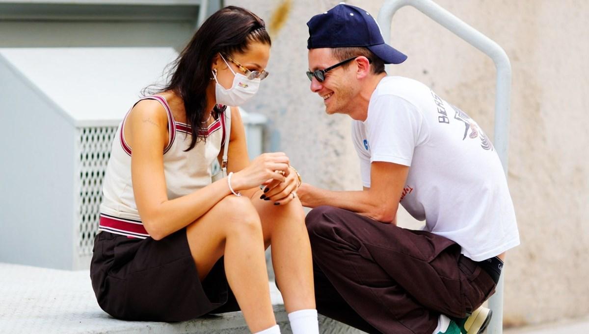 Bella Hadid ile sevgilisi Marc Kalman New York sokaklarında