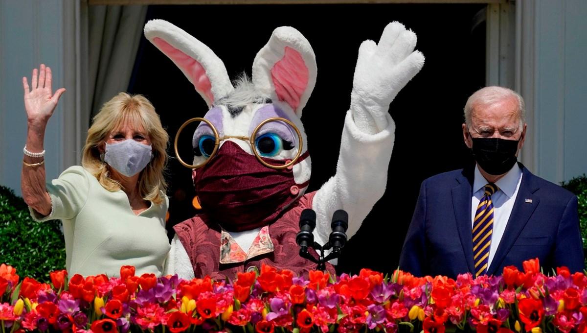 Joe Biden ve Jill Biden Beyaz Saray'a Paskalya tavşanını geri getirdi