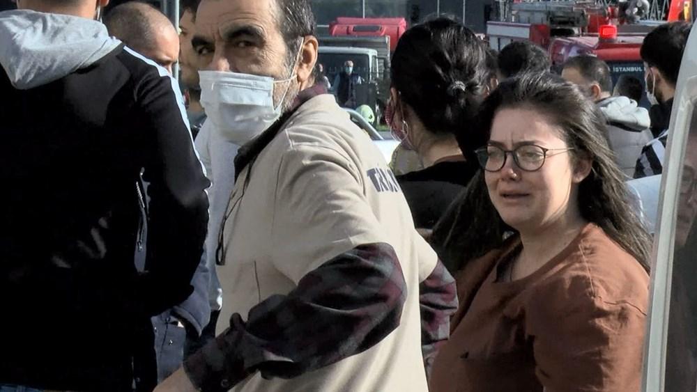 İstanbul'da 8 katlı işyerinde korkutan yangın - 4