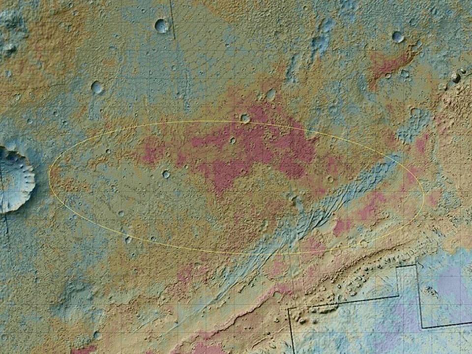 Curiosity'nin 6 Ağustos'ta ineceği bölge.