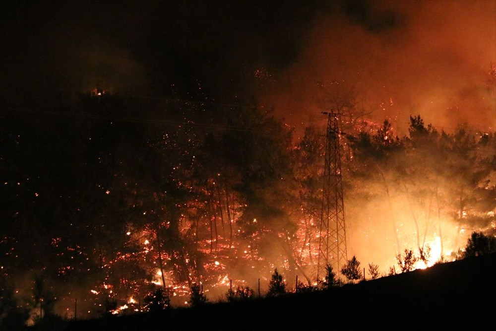 Antalya, Adana, Mersin, Aydın, Muğla, Osmaniye, Kayseri ve Manisa'da orman yangınları - 42
