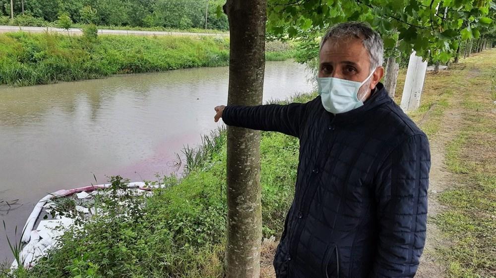 Kocaeli'de Kilez Deresi'ni atık su ile kırmızıya boyayan firmaya ceza - 2