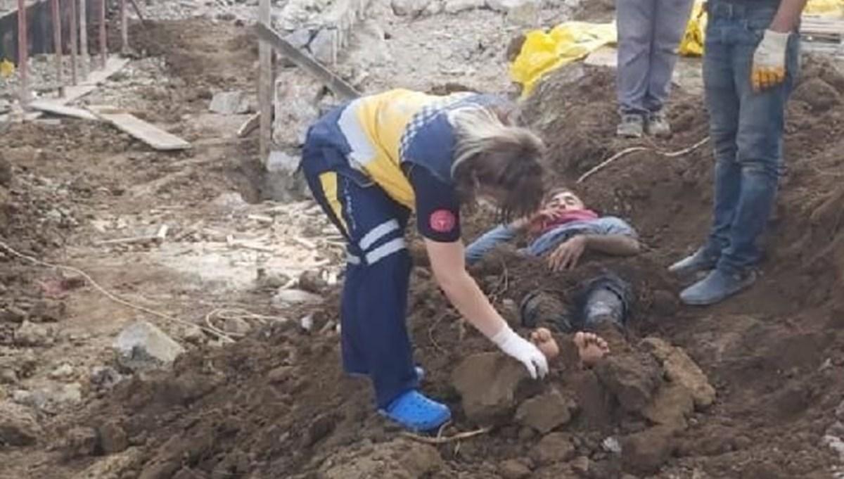 Elektrik akımına kapılan işçiyi toprağa gömdüler!