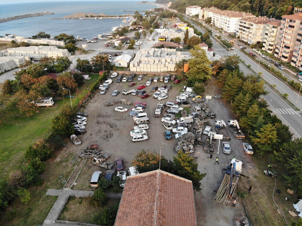 Bozkurt'ta sel sonrası araç mezarlığı - 5