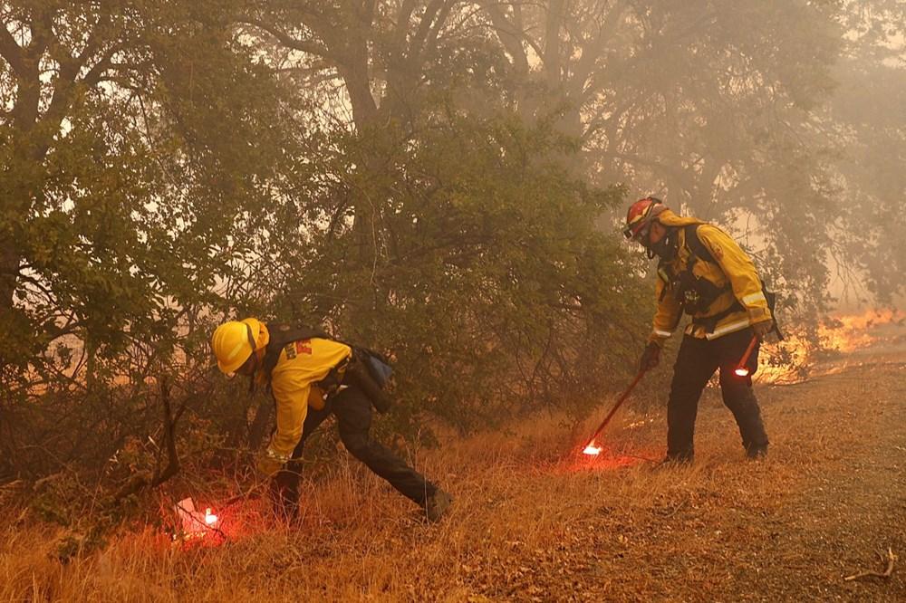 California'da yangınlar kontrol altına alınamadı: Bir helikopter düştü - 11