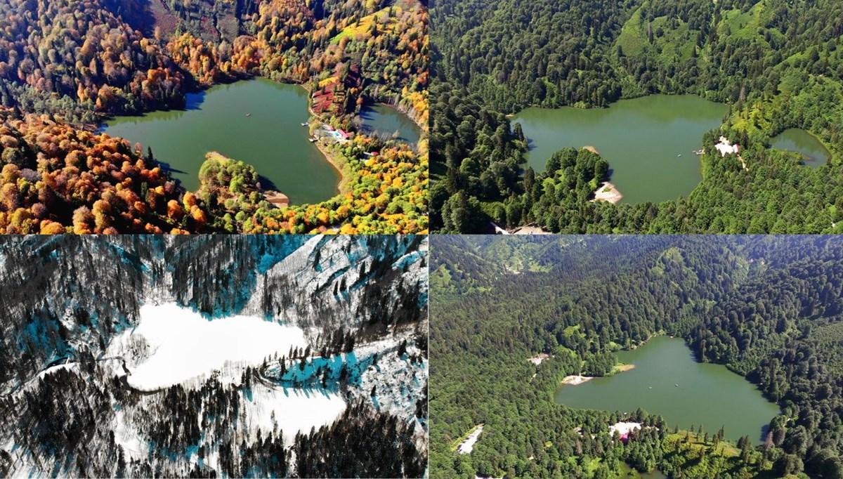 Borçka Karagöl'ün 4 mevsim fotoğrafları büyülüyor