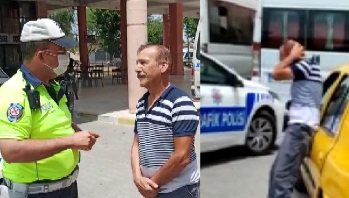 Sivil polise yakalanan korsan taksici 'Yaktın beni' diye ağladı