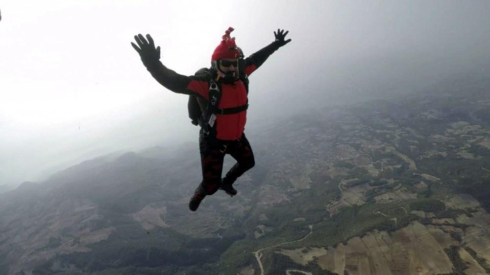 Hayko Cepkin, Pamukkale'de balondan paraşütle atladı - 5