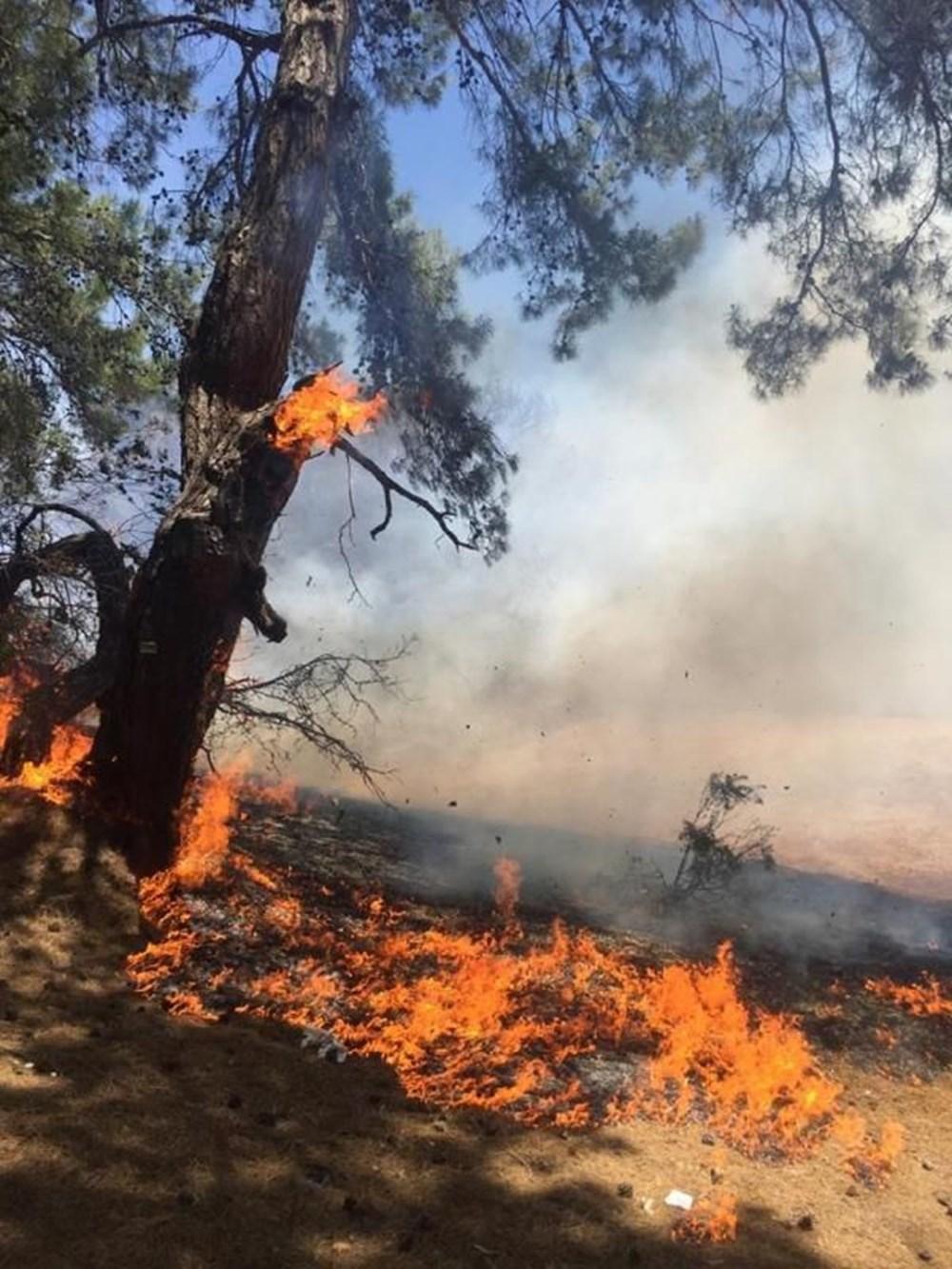 Antalya'da korkutan yangın: Kum taşıdılar - 4