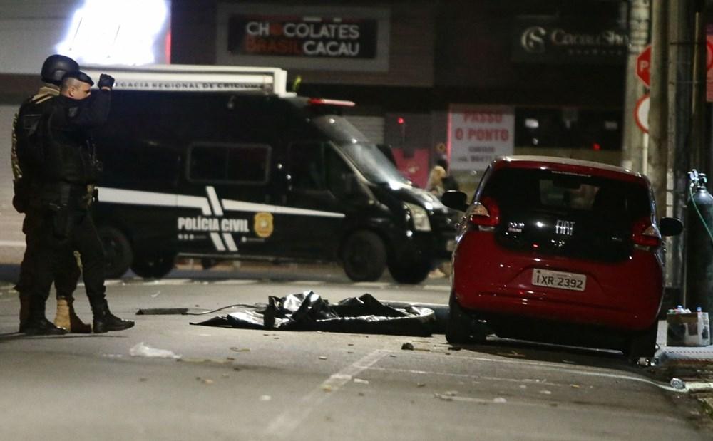 Brezilya'da savaş gibi banka soygunu: 30 kişi geldiler - 8