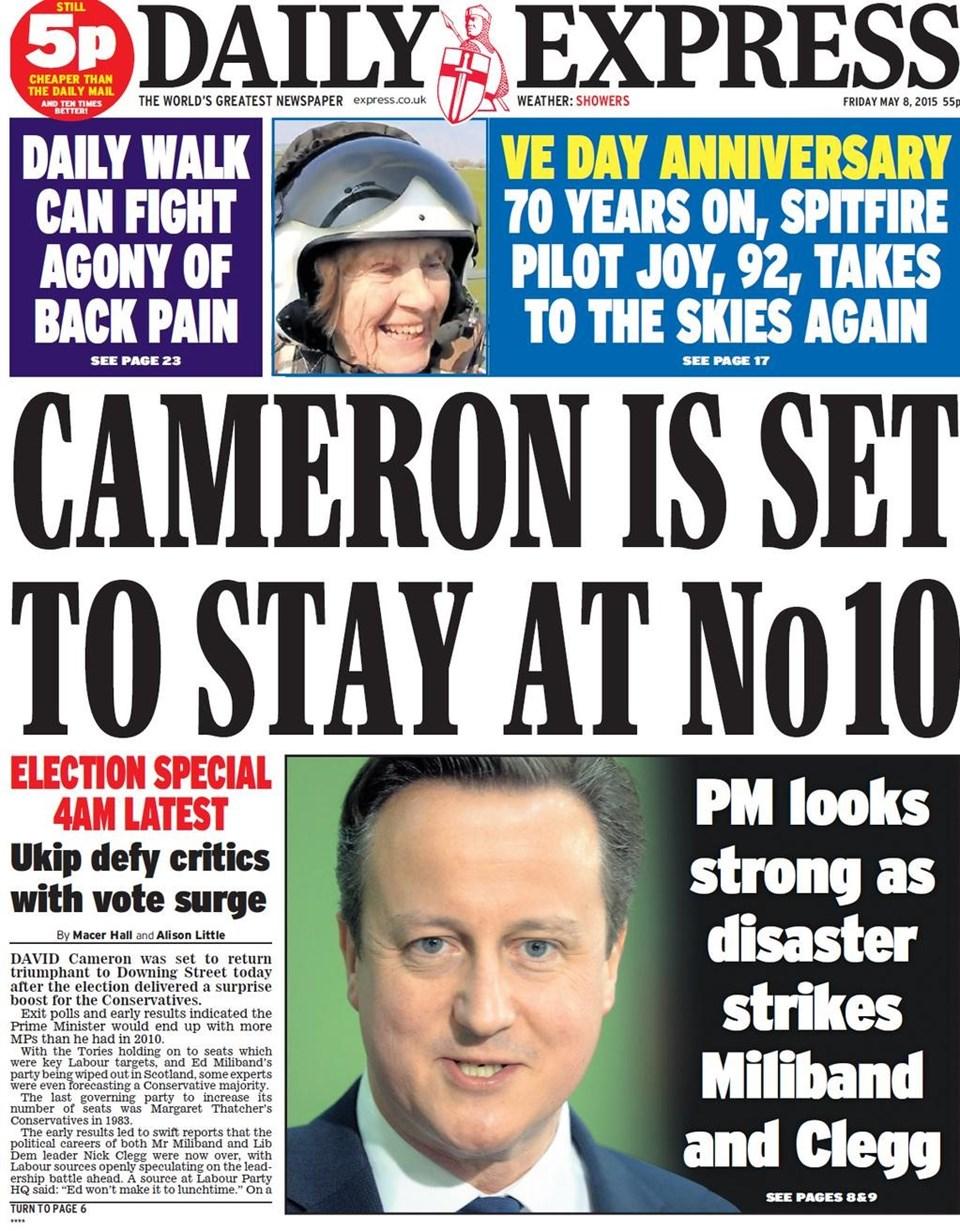 Daily Express: Cameron 10 Numara'daki Başbakanlık Konutu'nda oturmaya devam edecek