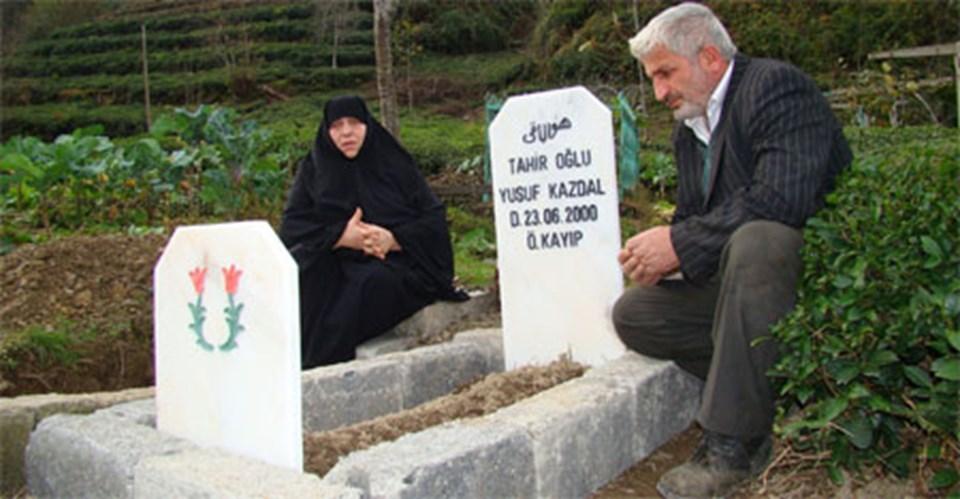 10 yaşındaki Yusuf Kazdal için ailesi mezar yaptırdı.