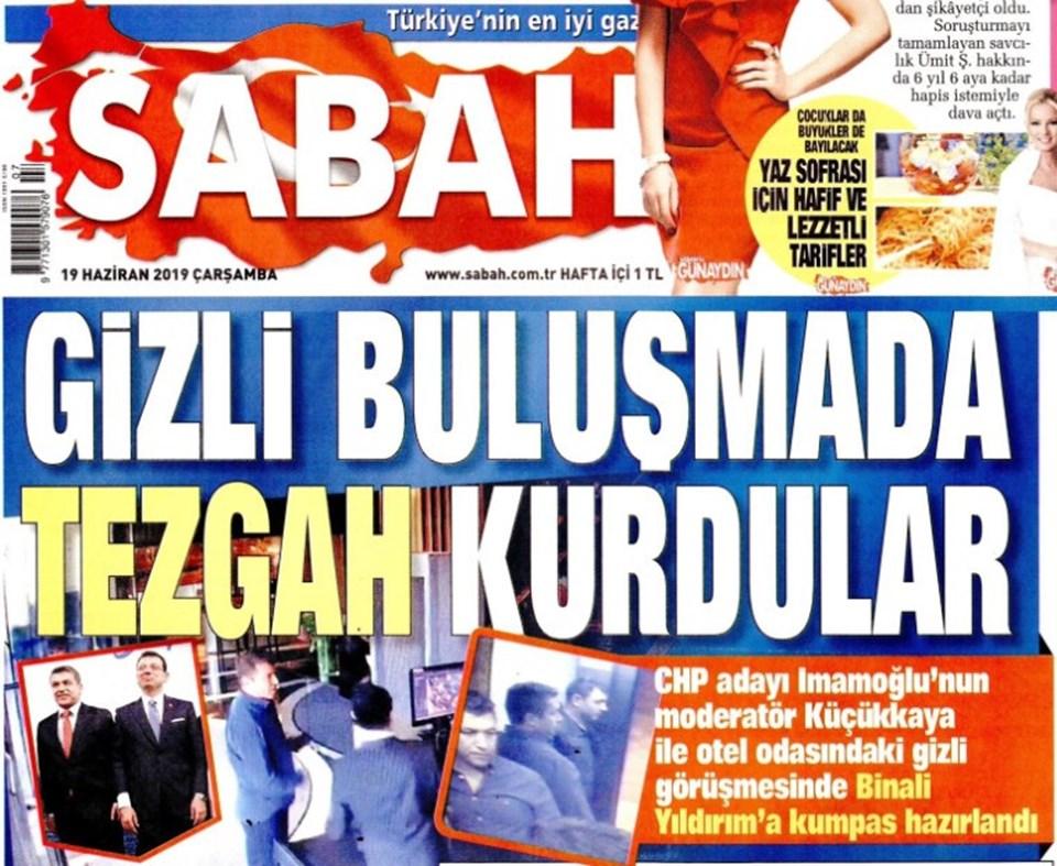 Sabah gazetesinin bugünkü manşeti