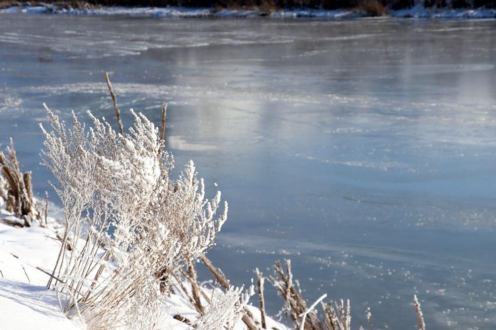 Türkiye'nin en soğuk yeri Sivas Altınyayla oldu, Kızılırmak kısmen buz tuttu - 13