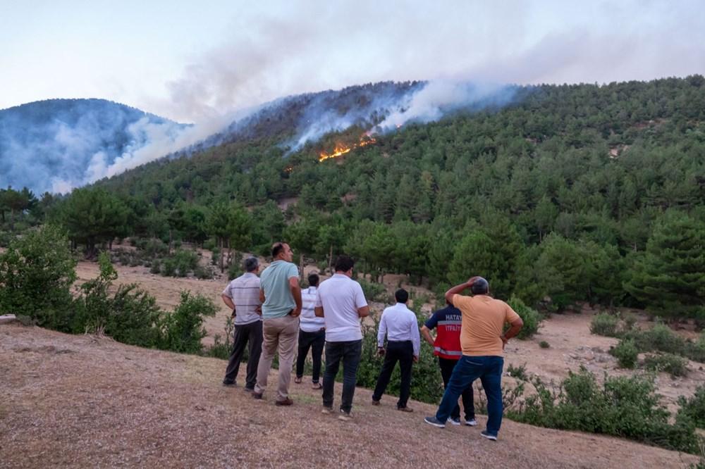 Hatay'da 2 orman yangını - 9