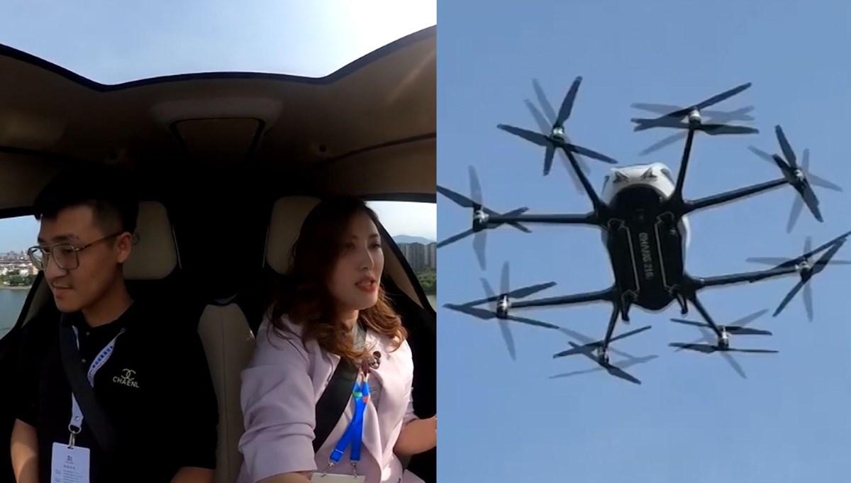 Drone taksi ilk kez müşterileriyle uçtu