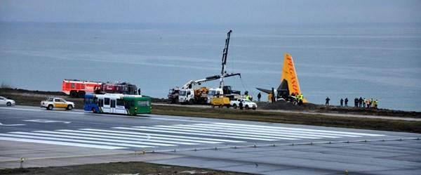 Trabzon'da pistten çıkan uçak için kurtarma çalışması başlatıldı