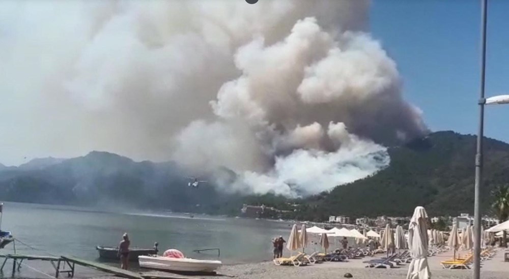 Marmaris'teki orman yangınından acı haber - 8