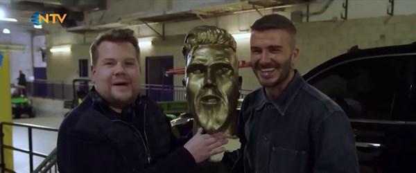 Beckham'a heykel şakası