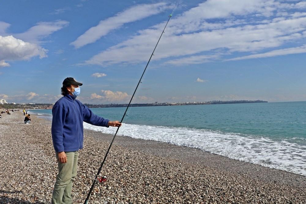 Olta balıkçılarının avlayıp denize attığı ölü balon balıkları fırtına sonrası sahile vurdu - 6