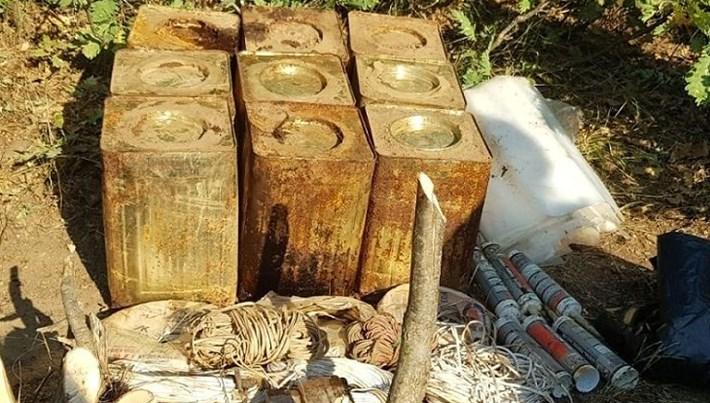 Bitlis'te 180 kilogram patlayıcı madde bulundu