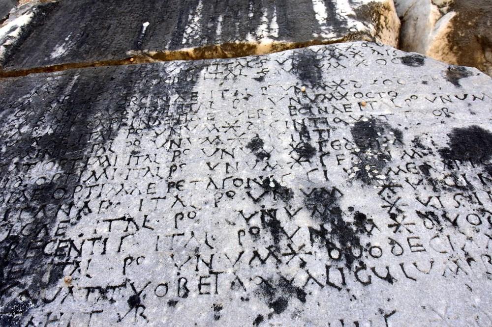 Yatağan'daki Antik kentte 1720 yıllık fiyat listesi - 2