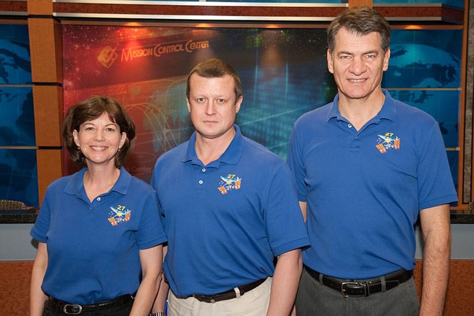 Soyuz mürettebatıCatherine Coleman, Dmitry Kondratyevve Paolo Nespoli