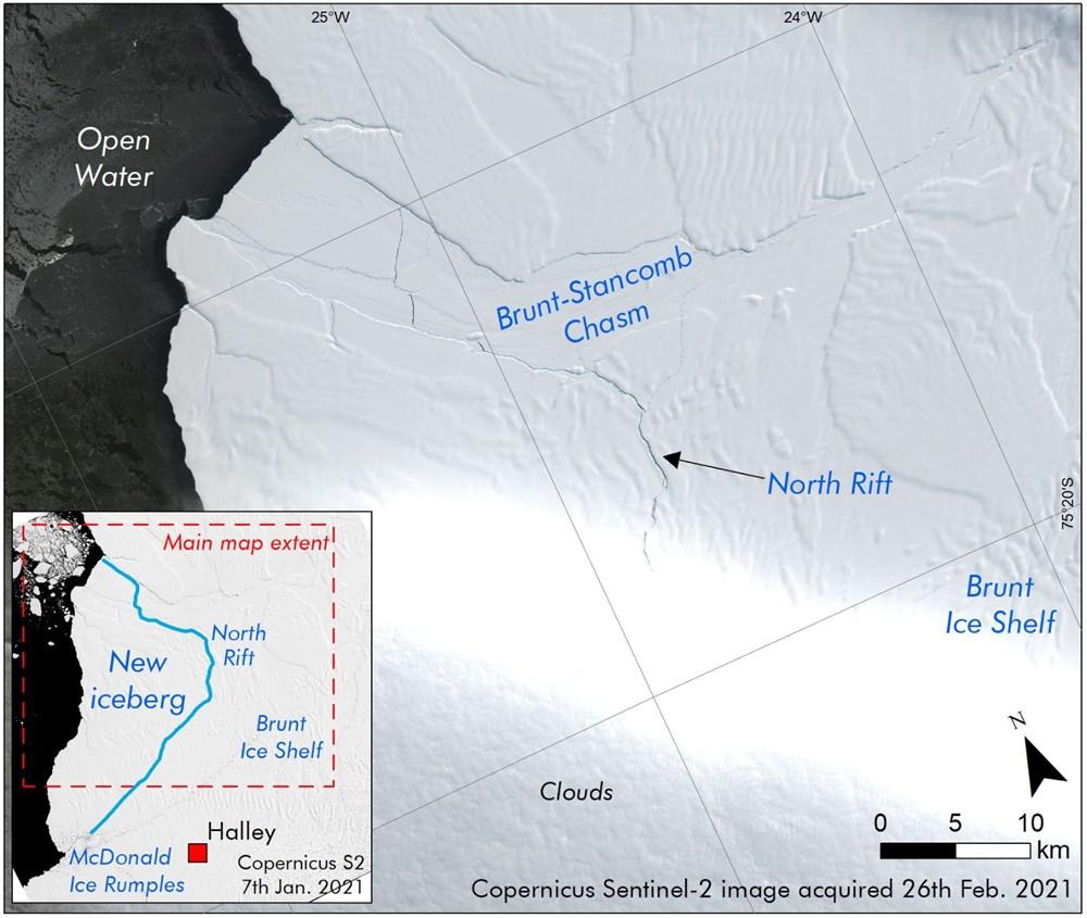 Antartika'da dev buz kütlesi buz sahanlığından koptu - 2