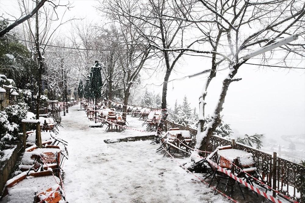 İstanbul'da kar yağışı devam ediyor - 22