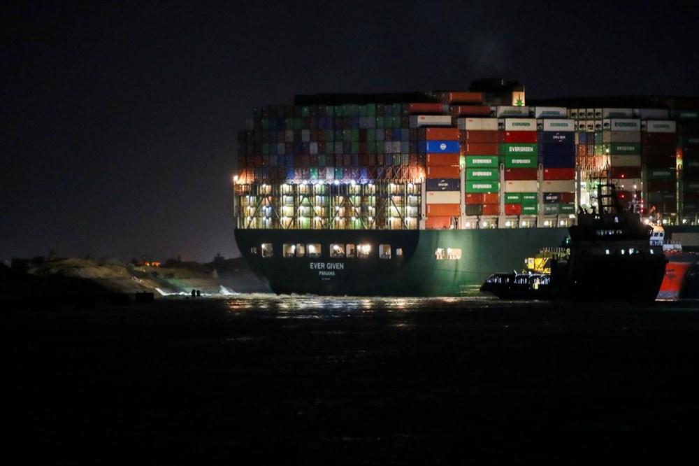 Süveyş Kanalı 6. günde kısmen açıldı: Ever Given gemisi yüzdürüldü - 3