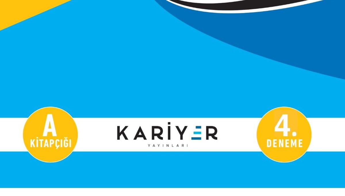 Kariyer Yayınları TYT 4. deneme sınavı
