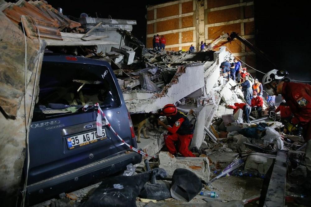 İzmir'de deprem sonrası enkaz altındakiler için zamana karşı yarış (58 saat sonra kurtarıldı) - 14