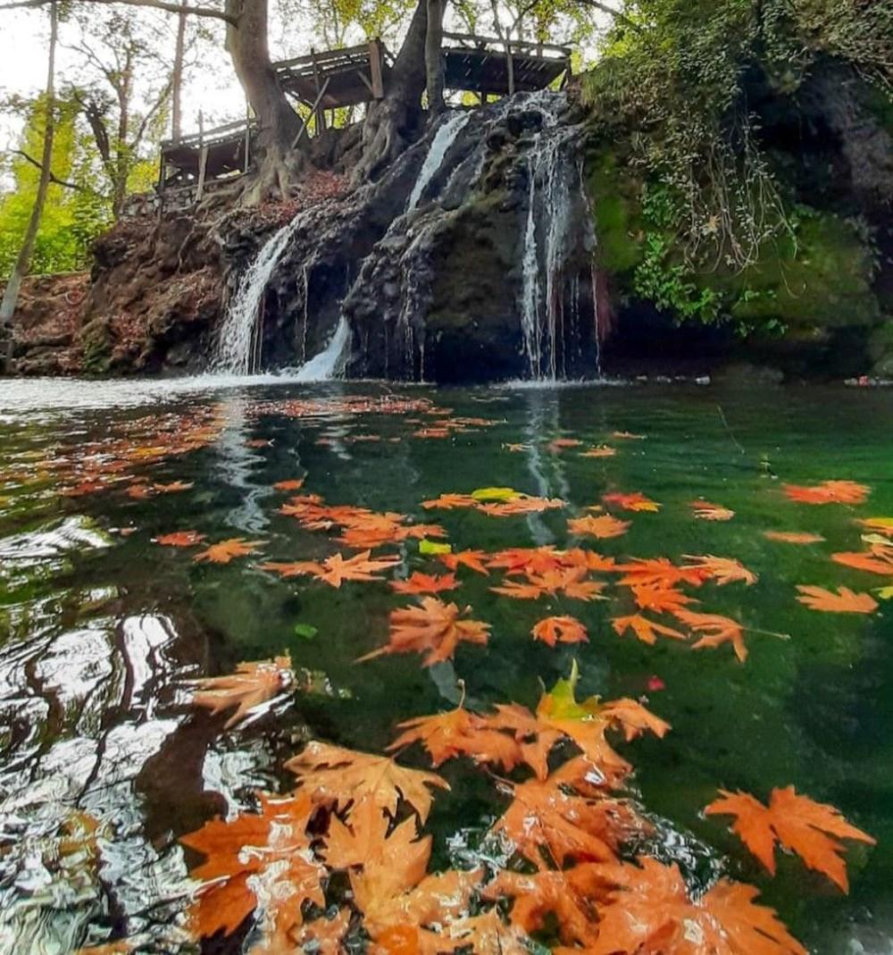Kahramanmaraş'ta doğa harikası Döngel Şelalesi sonbaharda büyülüyor - 4
