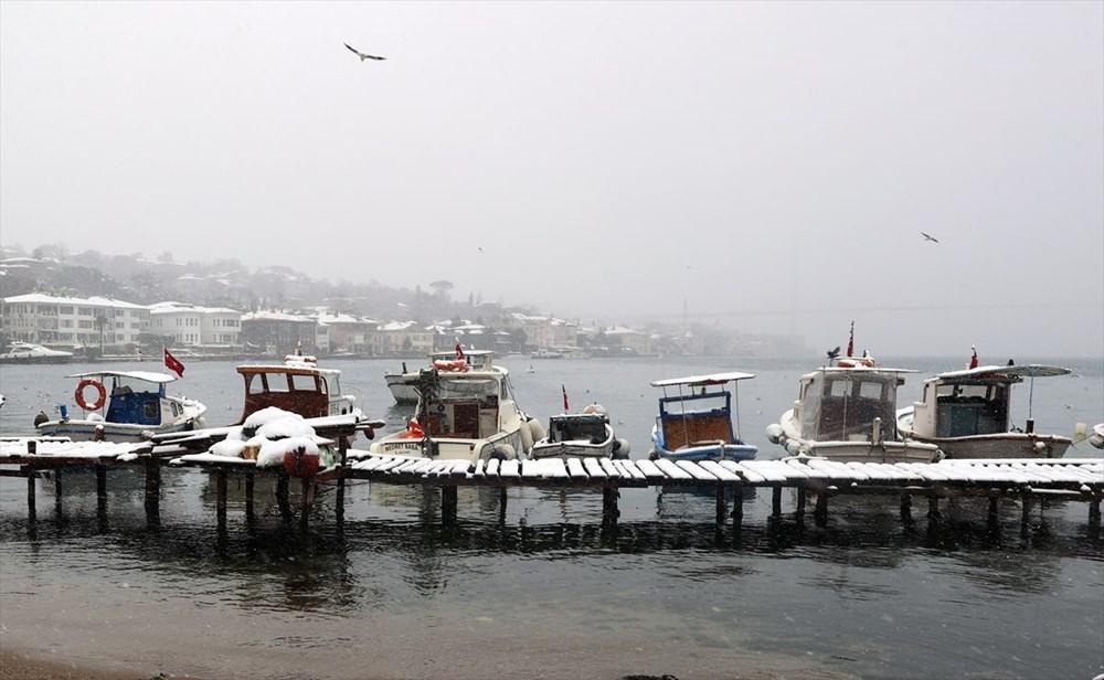 İstanbul'da kar yağışı devam ediyor - 14