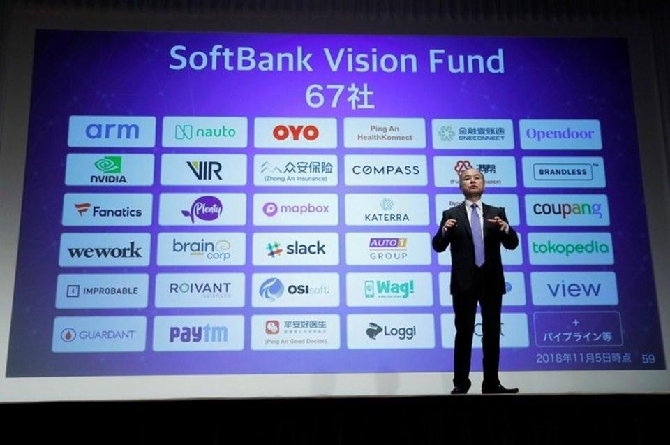 CEO Masayoshi Son, Vision Fund adını verdiği girişimle teknoloji şirketlerine milyarlarca dolarlık yatırım yaptı