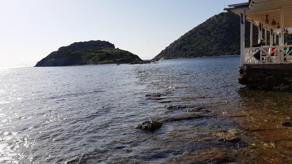 Sular çekildi Bodrum'da tarihi kral yolu ortaya çıktı - 8