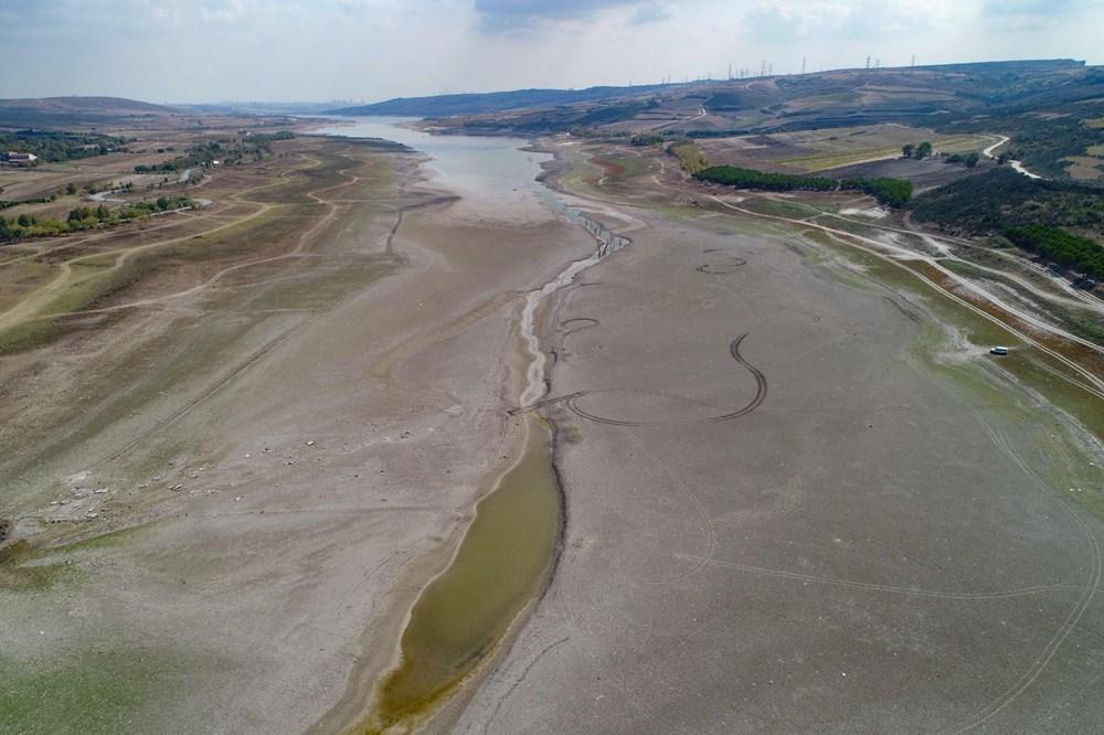 Suların çekildiği Sazlıdere Barajı'nda korkutan görnütü - 5