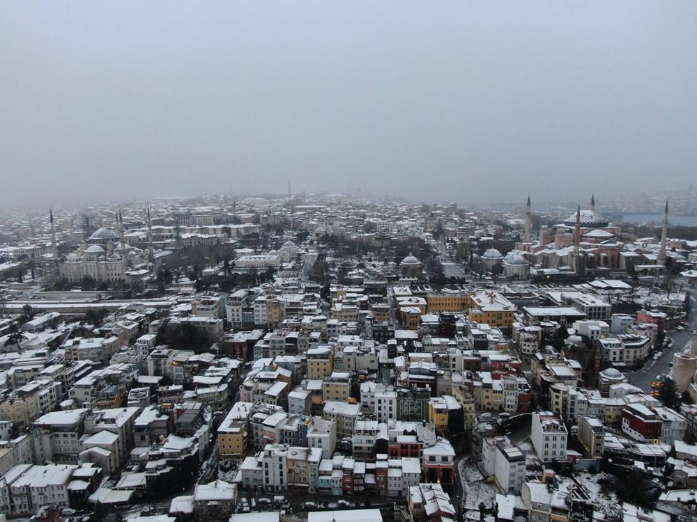 İstanbul'da kar yağışı devam ediyor (AKOM ilçe ilçe kar kalınlıklarını paylaştı) - 2