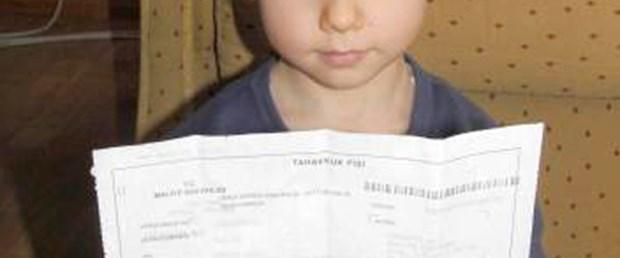 4 yaşındaki çocuğa vergi borcu kesildi