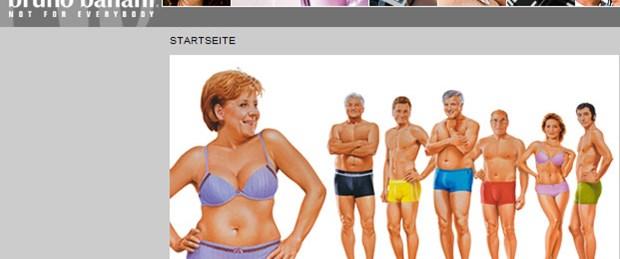Alman siyasetçiler iç çamaşırı reklamında