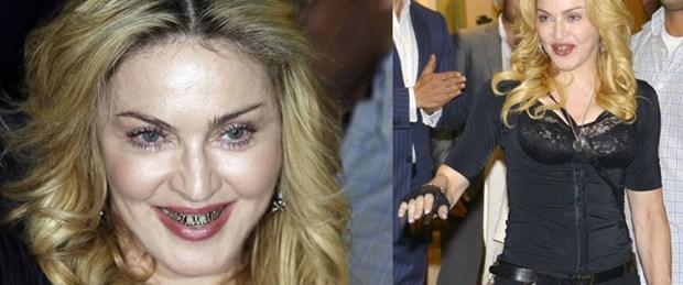 Altın dişli Madonna