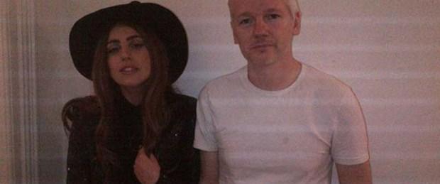 Assange'ın misafiri Lady Gaga oldu