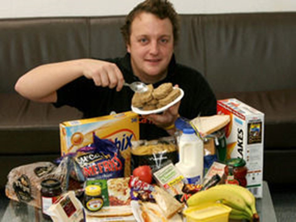 Martin'in hazırlanırken yaptığı diyetin bir öğünü